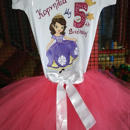 Set tutu tshirt princess sofia