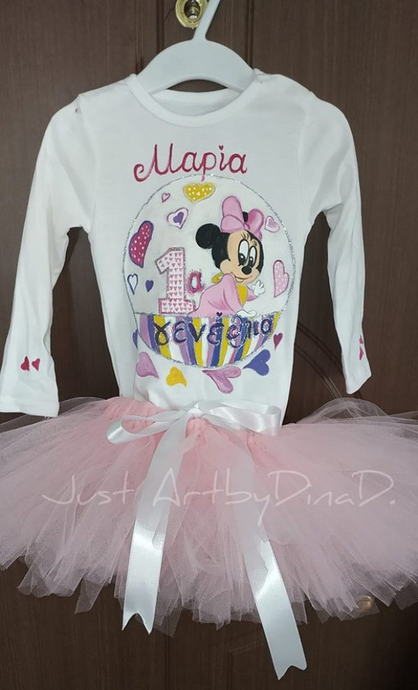 set tutu-tshirt minnie mouse